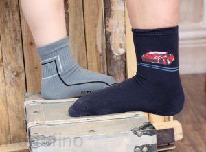 109-002 Размер 36-38 (23-24 см ) Носки для мальчика Rewon с компьютерным рисунком