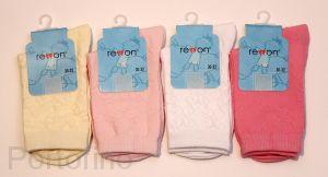 103-002 Размер   36-38 (23-24 см ) Носочки для девочек  жаккардовые Rewon (Польша)