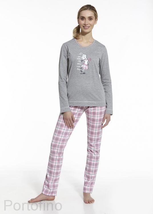 655/38 женская пижама с длинным рукавом и брюками Cornette