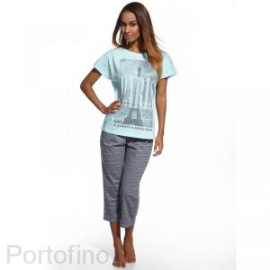 670-66 женская пижама футболка и бриджи Cornette