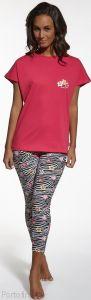 677-46 Cornette пижамка женская футболка и бриджи