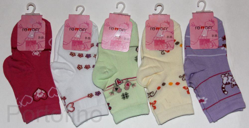 139-013 Размер 24-26 (15-16 см ) Носочки для девочек  с компьютерным рисунком Rewon (Польша)